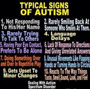 Typical Signs of Autism